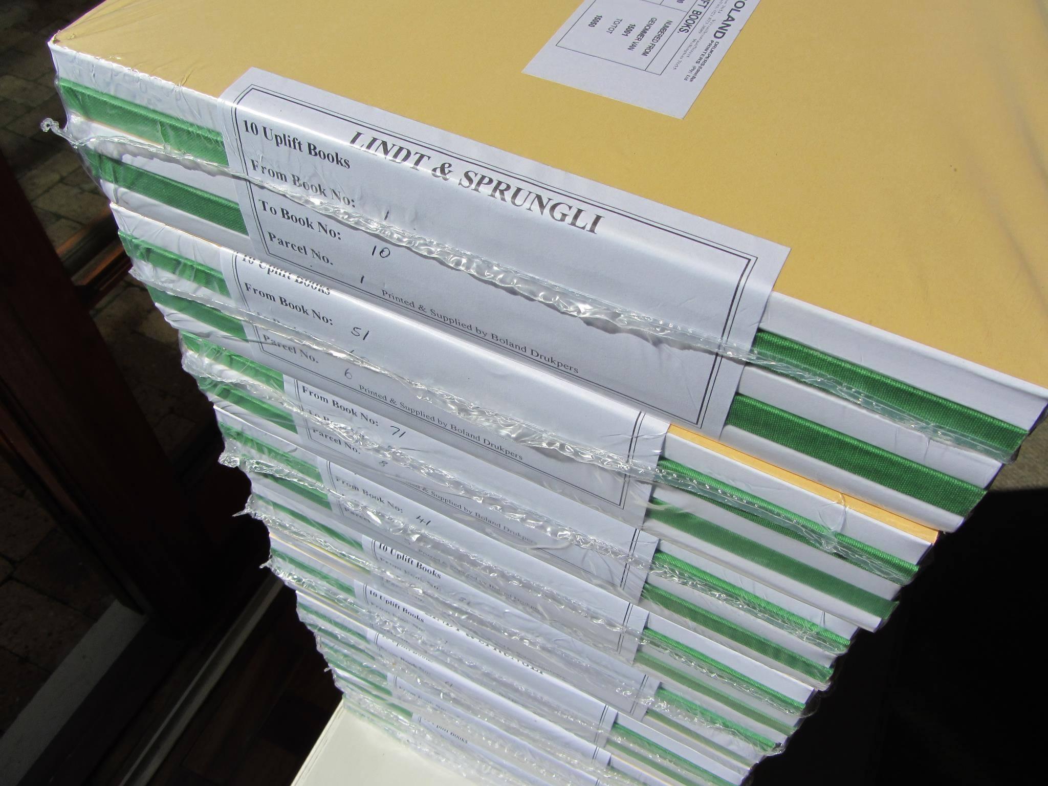 Lindt & Sprüngli Drucksachen bereit zur Auslieferung